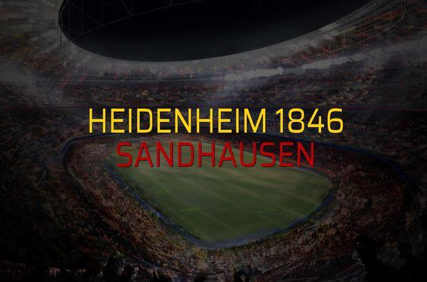 Heidenheim 1846 - Sandhausen maçı istatistikleri
