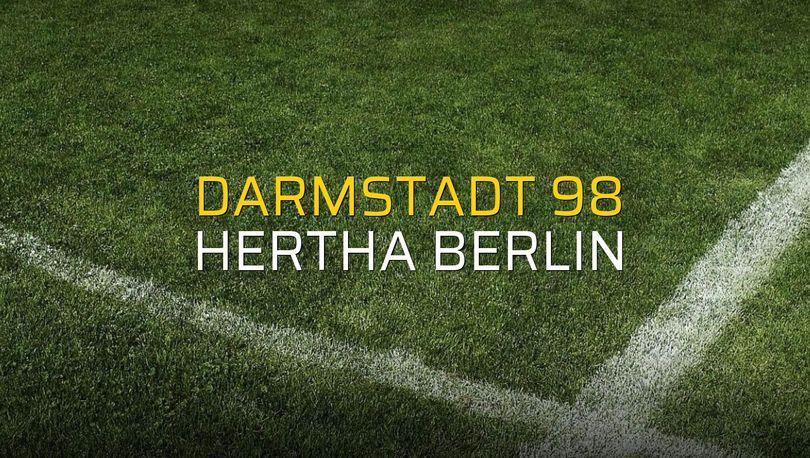 Darmstadt 98: 0 - Hertha Berlin: 2 (Maç sona erdi)