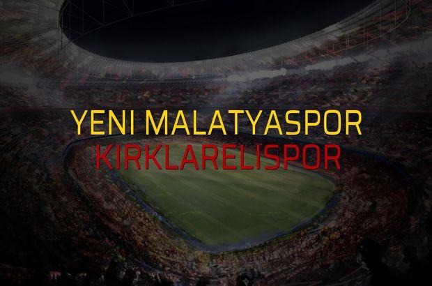 Yeni Malatyaspor - Kırklarelispor sahaya çıkıyor