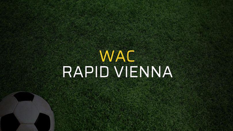 WAC - Rapid Vienna maçı öncesi rakamlar