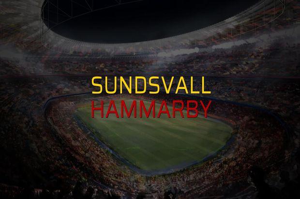 Sundsvall - Hammarby maçı rakamları