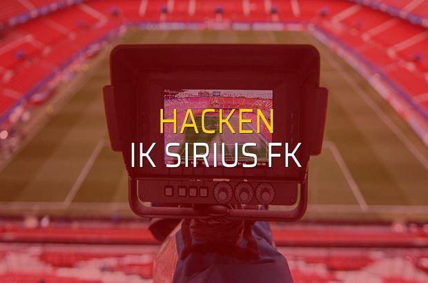 Hacken - IK Sirius FK karşılaşma önü