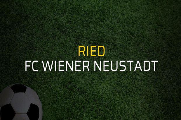 Ried - FC Wiener Neustadt sahaya çıkıyor