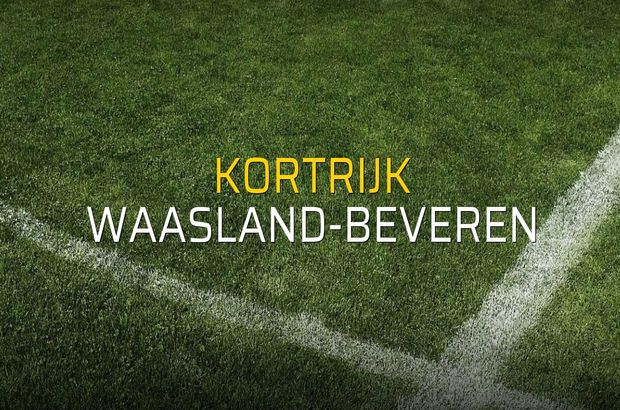 Kortrijk - Waasland-Beveren sahaya çıkıyor