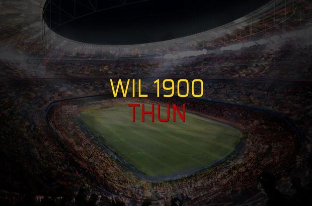 Wil 1900 - Thun maçı rakamları
