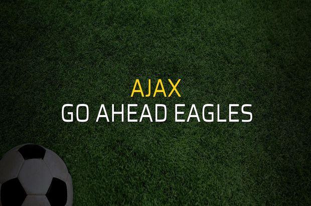 Ajax - Go Ahead Eagles maçı istatistikleri