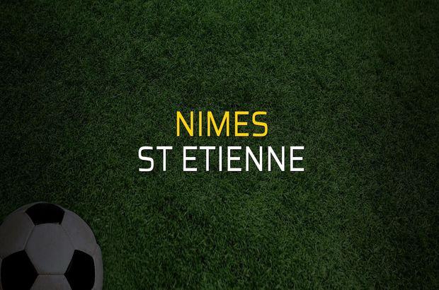 Nimes - St Etienne maçı istatistikleri
