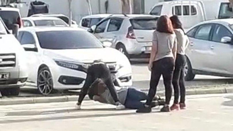 Antalya'da kızların kavgası dehşete düşürdü