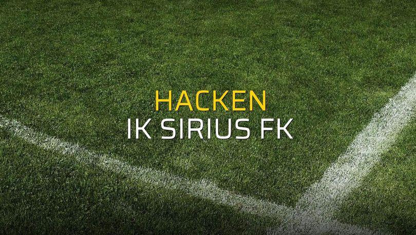 Maç sona erdi: Hacken: 2 - IK Sirius FK:1