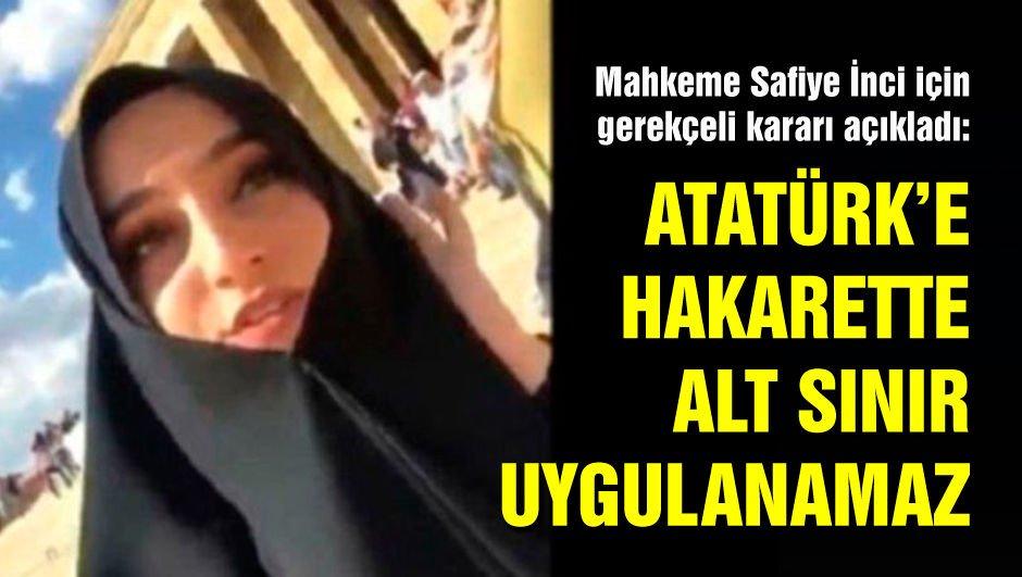 Mahkeme: Atatürk'e hakarette alt sınır uygulanamaz