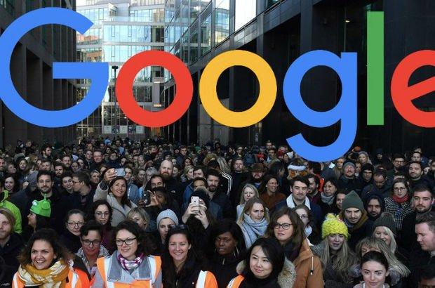İş bırakan Google çalışanları sokaklarda...