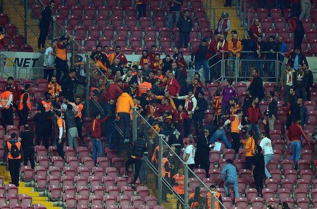 Galatasaray Fenerbahçe   tribünlerde  kavga