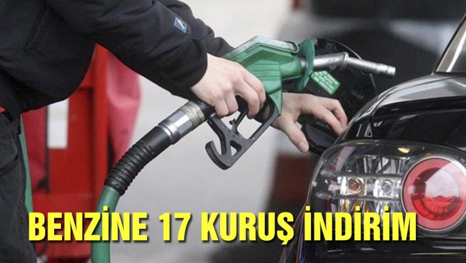 Benzine 17 kuruş indirim