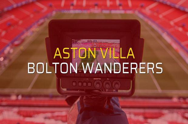 Aston Villa: 2 - Bolton Wanderers: 0 (Maç sonucu)