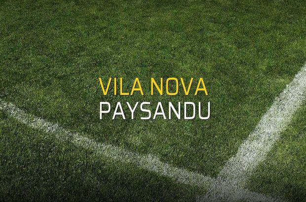 Maç sona erdi: Vila Nova: 0 - Paysandu:0