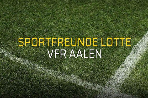 Maç sona erdi: Sportfreunde Lotte: 1 - VfR Aalen:1