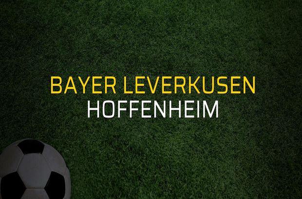 Bayer Leverkusen: 1 - Hoffenheim: 4 (Maç sona erdi)