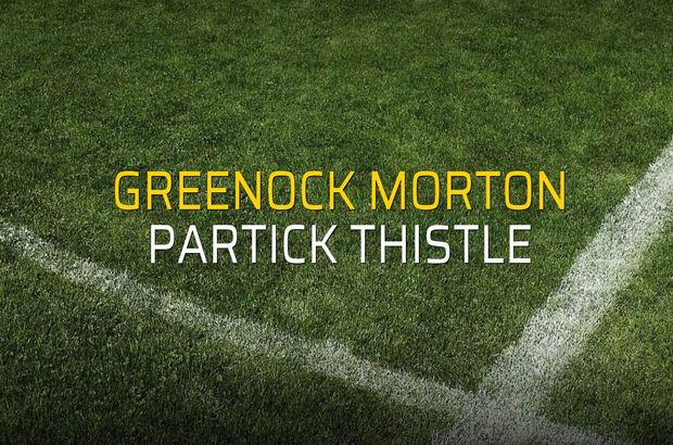 Greenock Morton: 2 - Partick Thistle: 1