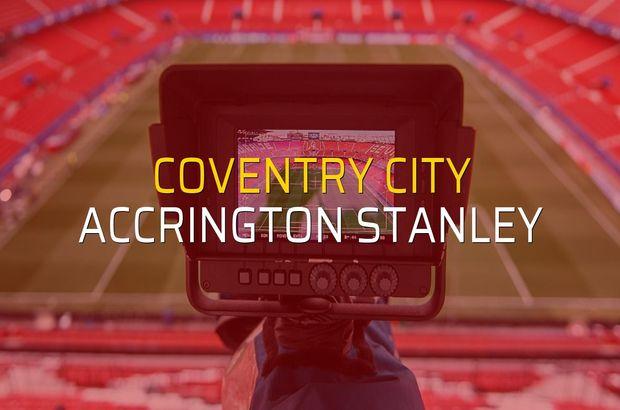 Coventry City: 1 - Accrington Stanley: 1