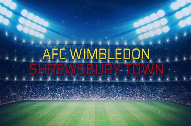 AFC Wimbledon: 1 - Shrewsbury Town: 2 (Maç sona erdi)