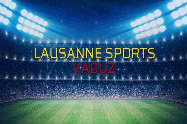 Lausanne Sports: 0 - Vaduz: 2 (Maç sonucu)