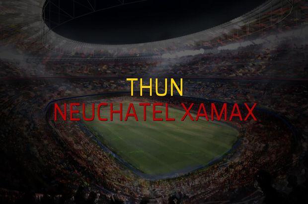 Thun: 2 - Neuchatel Xamax: 2 (Maç sonucu)