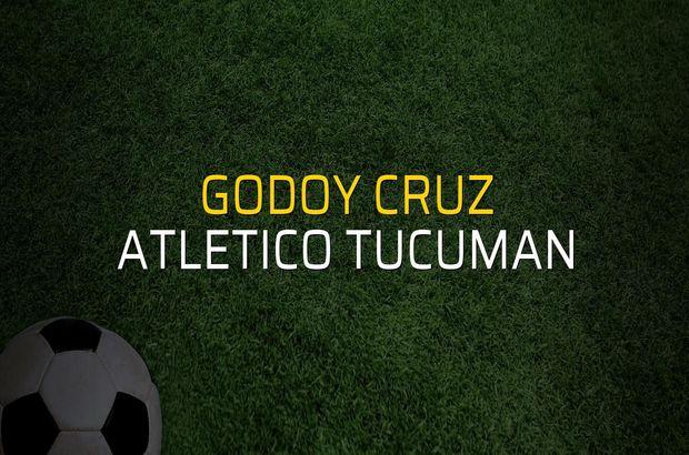 Godoy Cruz: 1 - Atletico Tucuman: 0 (Maç sonucu)