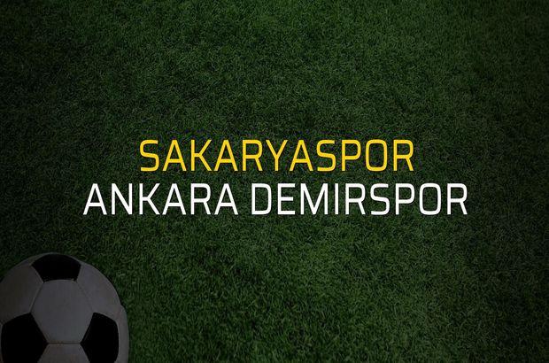 Sakaryaspor - Ankara Demirspor rakamlar