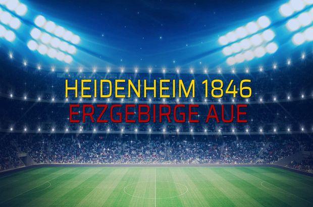 Heidenheim 1846 - Erzgebirge Aue maçı öncesi rakamlar