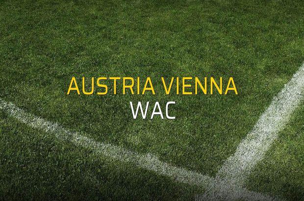 Austria Vienna - WAC rakamlar
