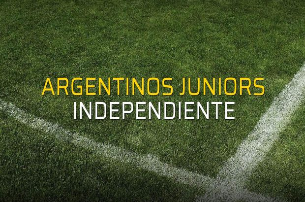 Argentinos Juniors - Independiente maçı istatistikleri