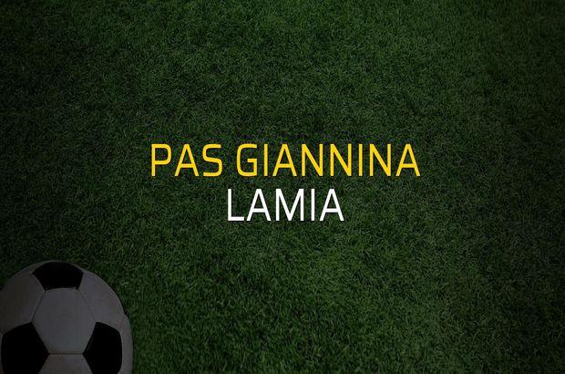 Pas Giannina - Lamia rakamlar