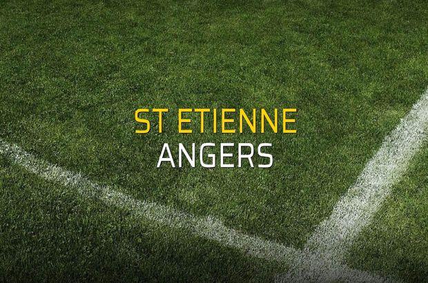 St Etienne - Angers rakamlar
