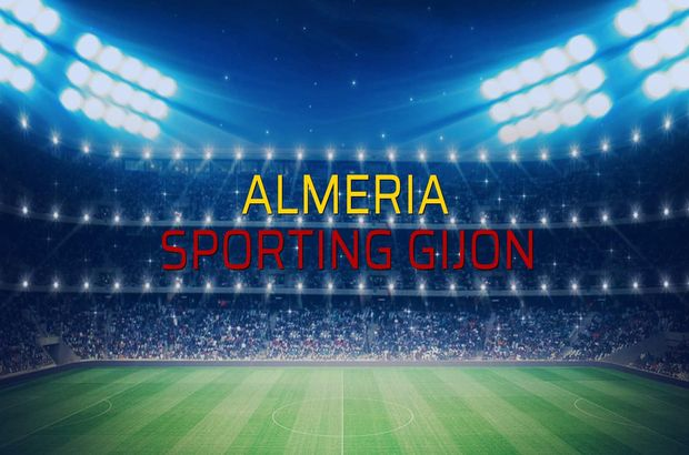 Almeria - Sporting Gijon maçı rakamları