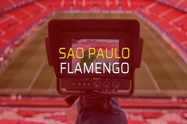 Sao Paulo - Flamengo maç önü