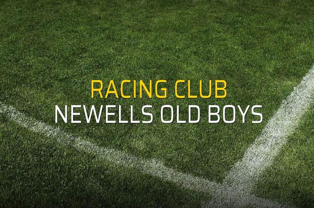 Racing Club - Newells Old Boys maçı istatistikleri