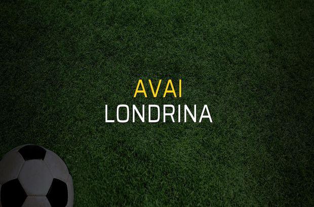 Avai: 1 - Londrina: 1