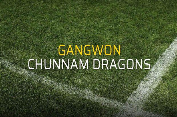 Gangwon: 1 - Chunnam Dragons: 1 (Maç sona erdi)