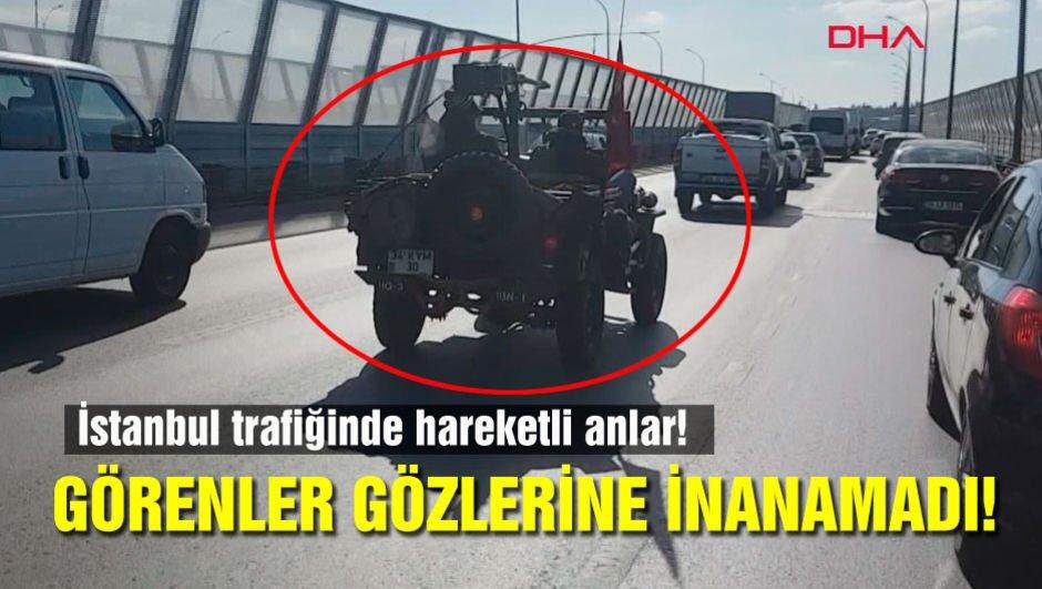 İstanbul trafiğinde onu görenler gözlerine inanamadı!