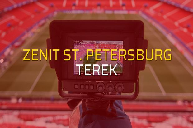 Zenit St. Petersburg: 1 - Terek: 0 (Maç sonucu)