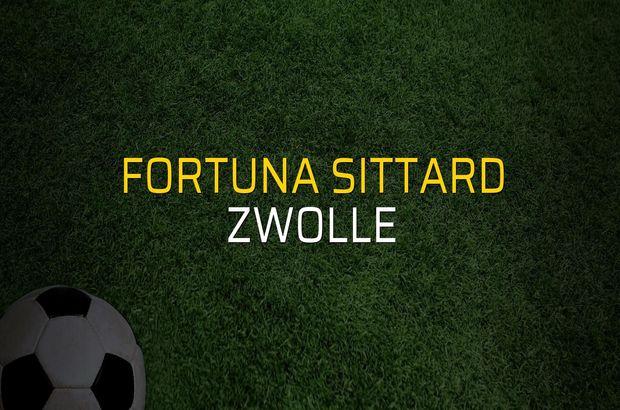 Fortuna Sittard: 3 - Zwolle: 0 (Maç sonucu)