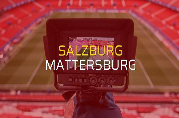 Salzburg: 2 - Mattersburg: 1 (Maç sona erdi)
