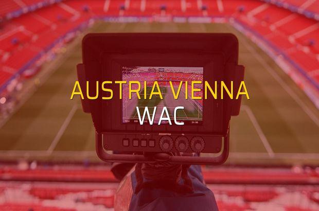 Maç sona erdi: Austria Vienna: 2 - WAC:3