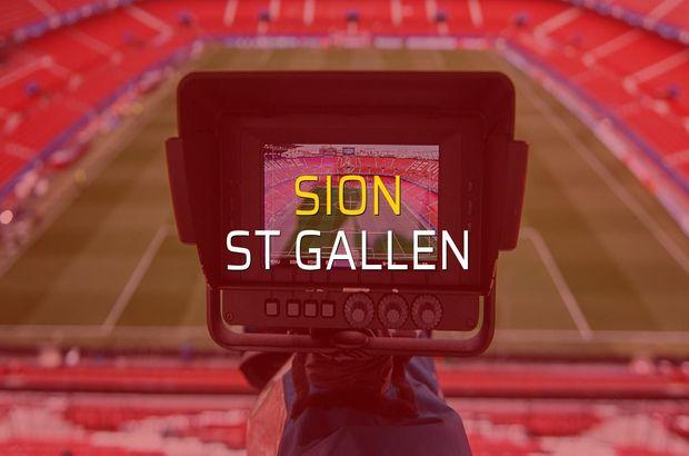 Sion: 0 - St Gallen: 1 (Maç sona erdi)