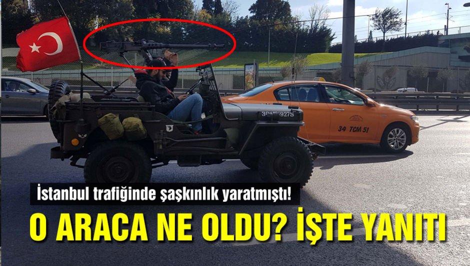 İstanbul trafiğinde şaşkınlık yaratmıştı! O araca ne oldu?