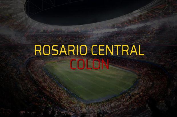 Maç sona erdi: Rosario Central: 1 - Colon:1