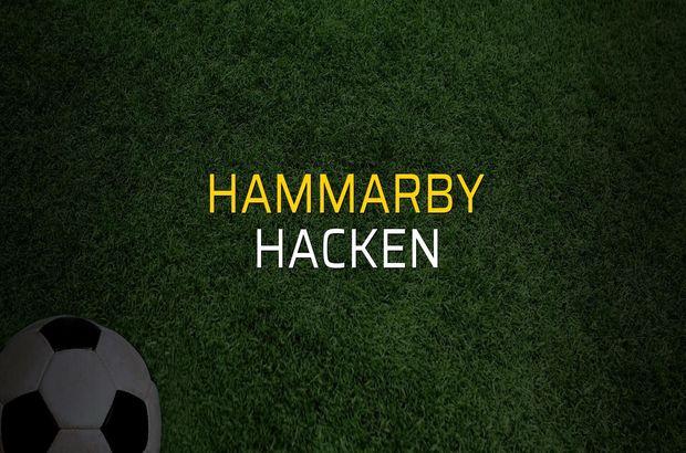 Hammarby: 1 - Hacken: 0
