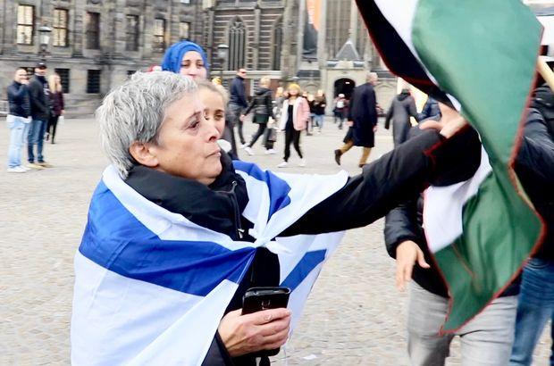 Filistin gösterisinde İsrail provokasyonu!