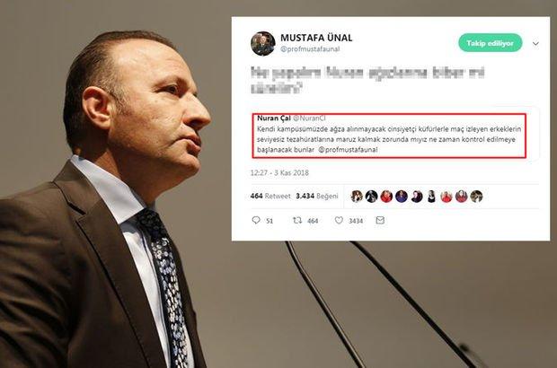 Akdeniz Üniversitesi Rektörü Mustafa Ünal