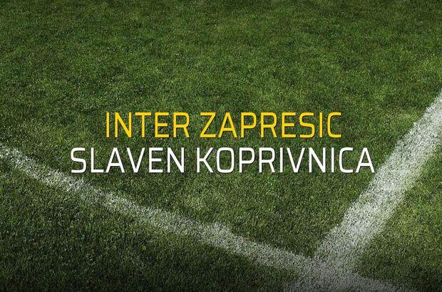 Inter Zapresic: 0 - Slaven Koprivnica: 0 (Maç sonucu)